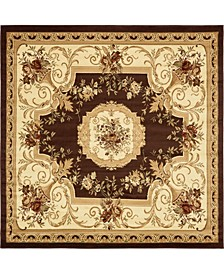 Belvoir Blv3 Brown 8' x 8' Square Area Rug
