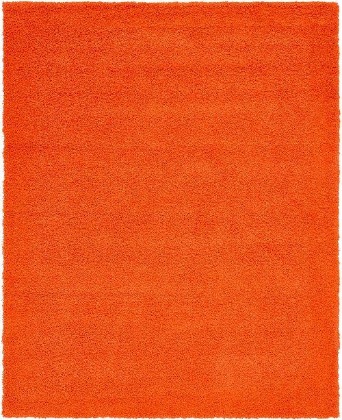 Bridgeport Home Exact Shag Exs1 Tiger Orange 8' x 10' Area Rug