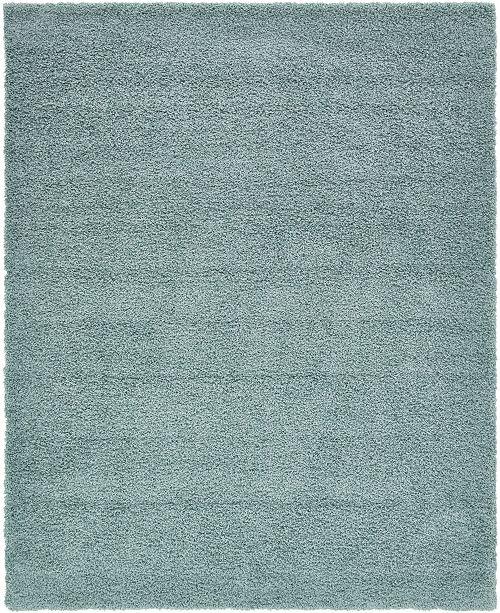Bridgeport Home Exact Shag Exs1 Light Slate Blue 8' x 10' Area Rug