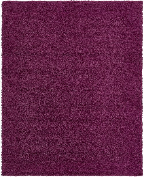 Bridgeport Home Exact Shag Exs1 Eggplant Purple 8' x 10' Area Rug
