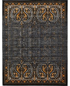 Bridgeport Home Linport Lin6 Black 10' x 13' Area Rug