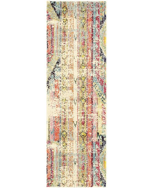 "Bridgeport Home CLOSEOUT! Arcata Arc5 Multi 2' 2"" x 6' 7"" Runner Area Rug"