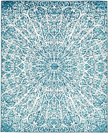 Bridgeport Home Basha Bas4 Turquoise 8' x 10' Area Rug