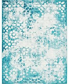 Bridgeport Home Basha Bas5 Turquoise 9' x 12' Area Rug
