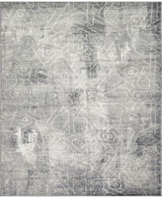Basha Bas6 Dark Gray 8' x 10' Area Rug