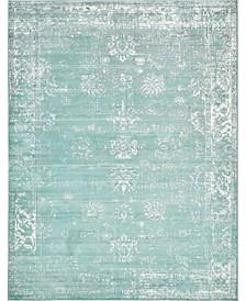Basha Bas1 Turquoise 9' x 12' Area Rug