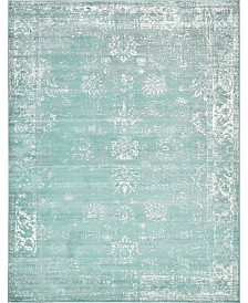 Bridgeport Home Basha Bas1 Turquoise 9' x 12' Area Rug