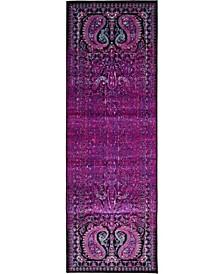 Linport Lin6 Lilac 2' x 6' Runner Area Rug