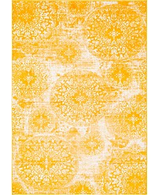 Bridgeport Home Basha Bas7 Yellow 5' x 8' Area Rug