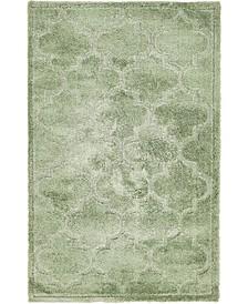 Filigree Shag Fil2 Green 5' x 8' Area Rug