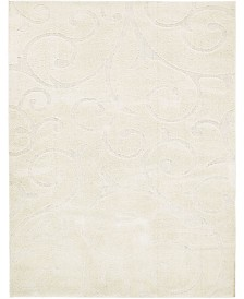 Bridgeport Home Malloway Shag Mal1 Ivory 9' x 12' Area Rug