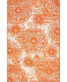 Bridgeport Home Basha Bas7 Orange 5' x 8' Area Rug