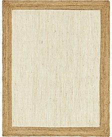 Braided Jute A Bja4 White 8' x 10' Area Rug
