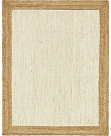 Bridgeport Home Braided Jute A Bja4 White 8' x 10' Area Rug