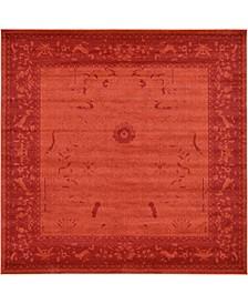 Aldrose Ald4 Orange 10' x 10' Square Area Rug