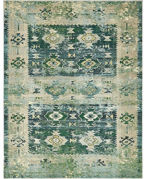 Bridgeport Home Newhedge Nhg3 Green 8' x 10' Area Rug