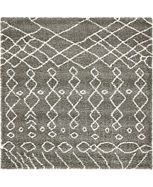 Bridgeport Home Fazil Shag Faz2 Gray 8' x 8' Square Area Rug