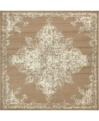 Tabert Tab7 Brown 8' x 8' Square Area Rug