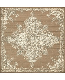 Tabert Tab7 Brown 8' x 8' Square Area Rug