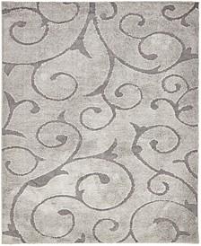 Malloway Shag Mal1 Gray 8' x 10' Area Rug