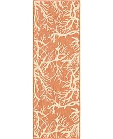 Pashio Pas6 Terracotta 2' x 6' Runner Area Rug