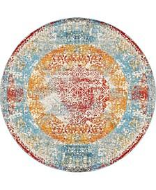 Mishti Mis1 Multi 8' x 8' Round Area Rug
