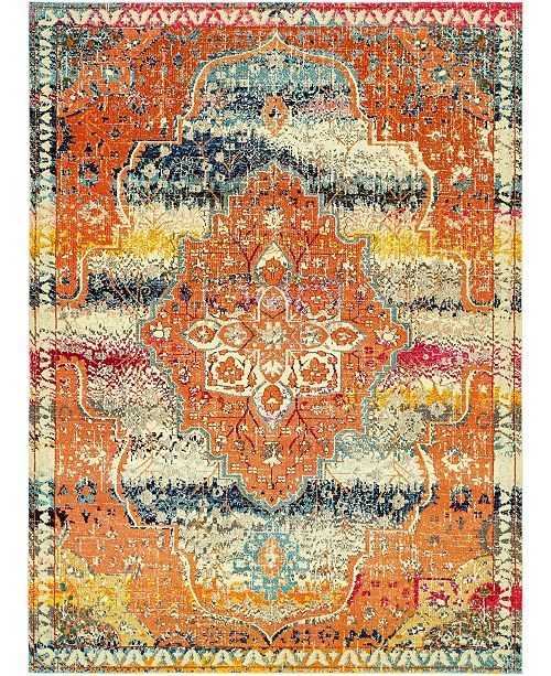 Bridgeport Home Brio Bri5 Multi 9' x 12' Area Rug