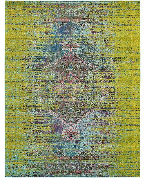 Bridgeport Home Brio Bri6 Green 8' x 10' Area Rug