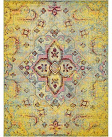 Bridgeport Home Brio Bri1 Yellow 8' x 10' Area Rug