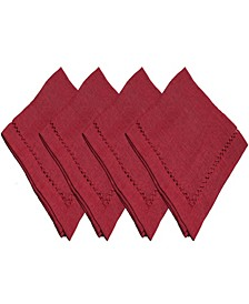 Hemstitch Polyester 4Pk Napkins