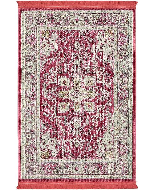 "Bridgeport Home Kenna Ken1 Pink 2' 2"" x 3' Area Rug"