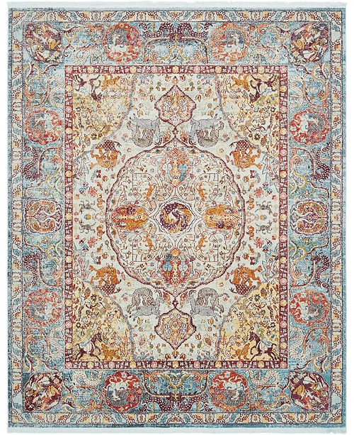 "Bridgeport Home Kenna Ken1 Light Blue 8' 4"" x 10' Area Rug"