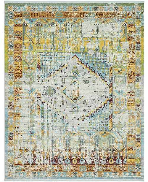 "Bridgeport Home Kenna Ken2 Light Blue 8' 4"" x 10' Area Rug"