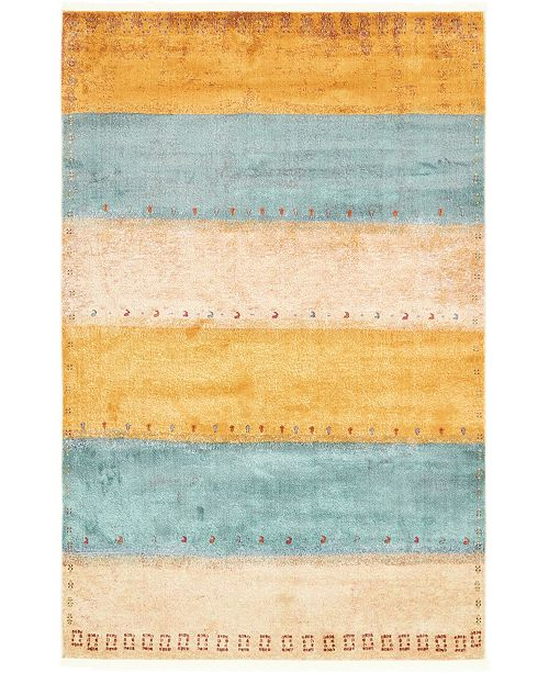 "Bridgeport Home Tempe Tmp7 Multi 5' 5"" x 8' Area Rug"