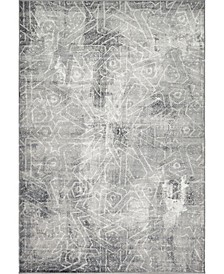 Basha Bas6 Dark Gray 6' x 9' Area Rug