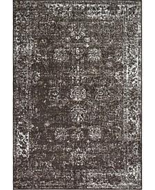 Basha Bas1 Brown 6' x 9' Area Rug