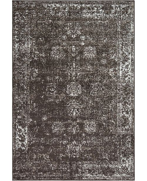 Bridgeport Home Basha Bas1 Brown 6' x 9' Area Rug