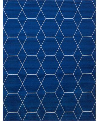 Plexity Plx1 Navy Blue 8' x 10' Area Rug