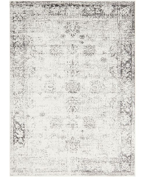 Bridgeport Home Basha Bas1 Gray 7' x 10' Area Rug