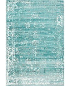 Bridgeport Home Basha Bas1 Turquoise 6' x 9' Area Rug