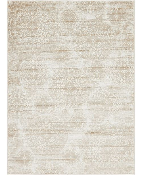 Bridgeport Home Basha Bas7 Beige 8' x 11' Area Rug