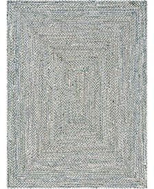 Roari Cotton Braids Rcb1 Gray 9' x 12' Area Rug