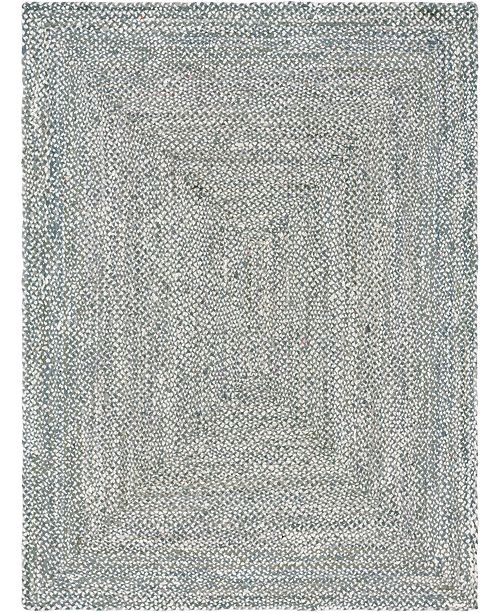 Bridgeport Home Roari Cotton Braids Rcb1 Gray 9' x 12' Area Rug