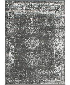 """Basha Bas1 Dark Gray 2' 2"""" x 3' Area Rug"""