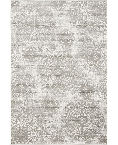 Bridgeport Home Basha Bas7 Gray 6' x 9' Area Rug