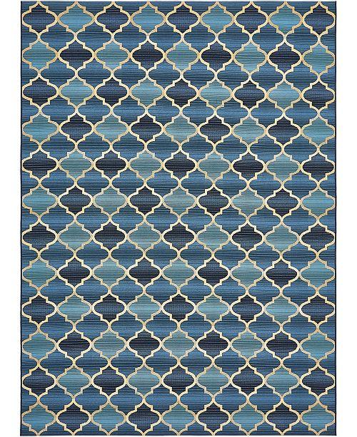 "Bridgeport Home Pashio Pas1 Blue 8' x 11' 4"" Area Rug"