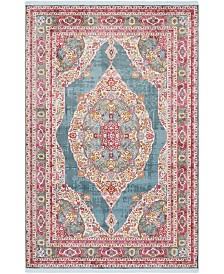 "Bridgeport Home Kenna Ken1 Turquoise 5' 5"" x 8' Area Rug"