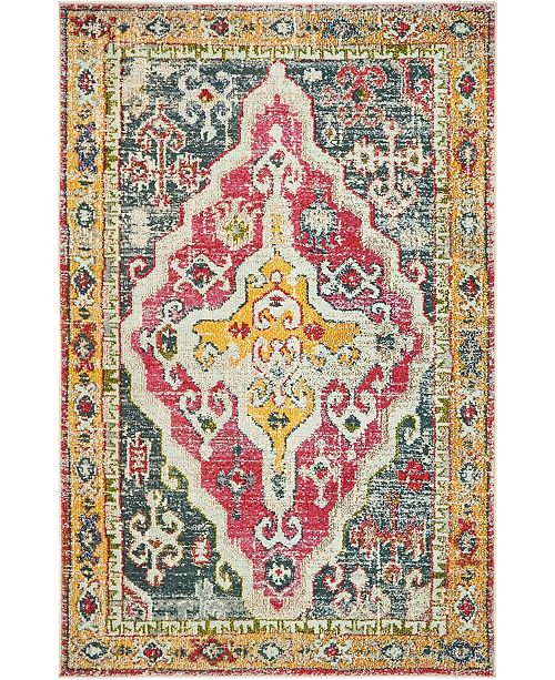 Bridgeport Home Brio Bri8 Multi 4' x 6' Area Rug