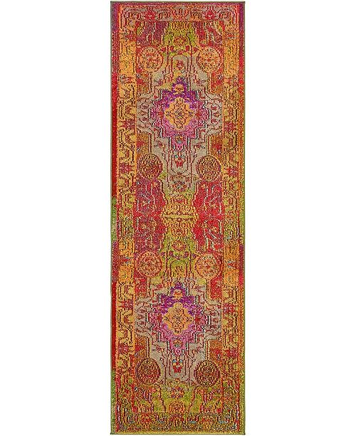 "Bridgeport Home Brio Bri1 Multi 2' x 6' 7"" Runner Area Rug"