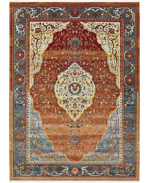 Bridgeport Home Kenna Ken1 Rust Red 10' x 13' Area Rug